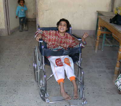delight with a new wheelchair
