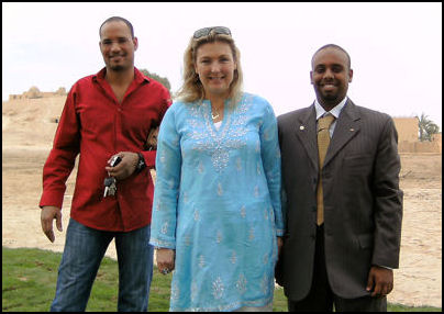 Lady Fiona Carnarvon with Aamer and Nagar