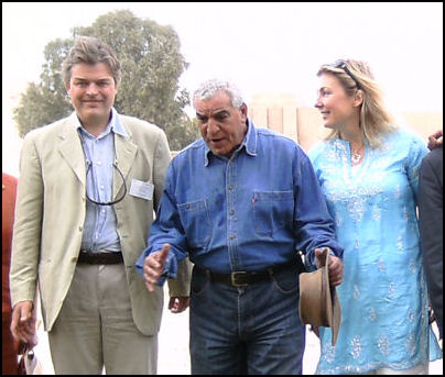 Lord and Lady Carnarvon with Dr. Hawass