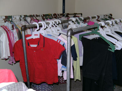 Clothes ready for distribution