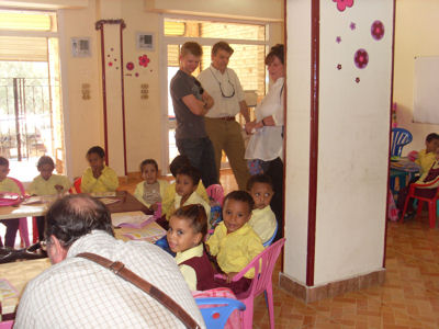 Lord Carnarvon's visit to the nursery school
