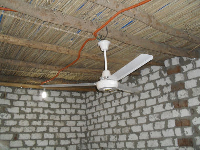 Electricity and fans have been installed
