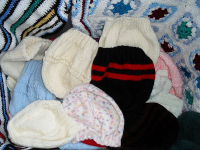Knitted clothes donated for the children
