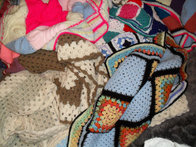 Knitted blankets for the children