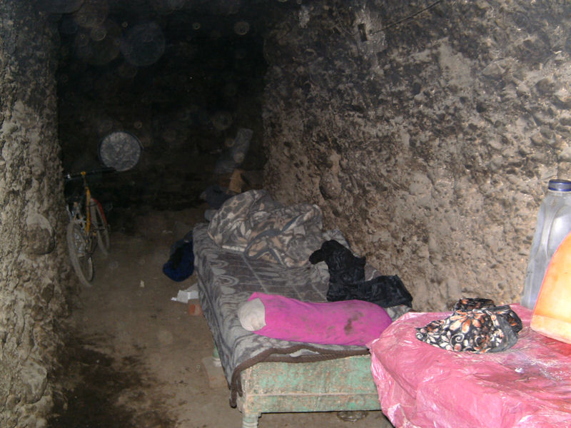 Sleeping in a tomb